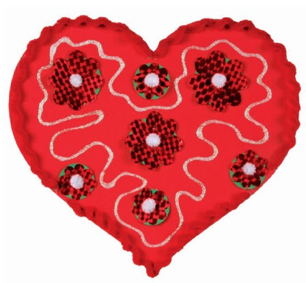 Best Valentine Foam Heart Craft Images On   Heart