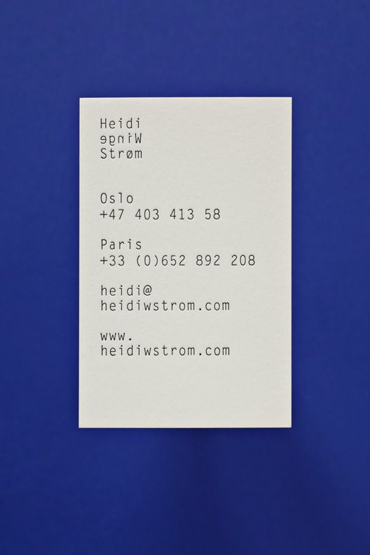 Heidi Winge Strøm — Corporate Design - Stahl R