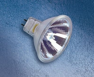 Kaltlichtspiegellampe MR16, Osram ENERGY SAVER, 35W,60°, 12V, GU5,3, 5000 h, 3100K, 1050 cd, UV-Stop, mit Glas, die IRC bietet gegenüber konv. KL-Reflektoren eine deutlich höhere Lichtausbeute, Osram IRC 35 Watt = 50 Watt Standardleuchtmittel.