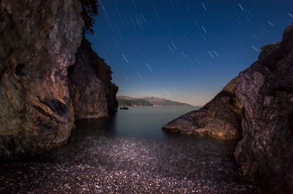 Star trails over Euvoia