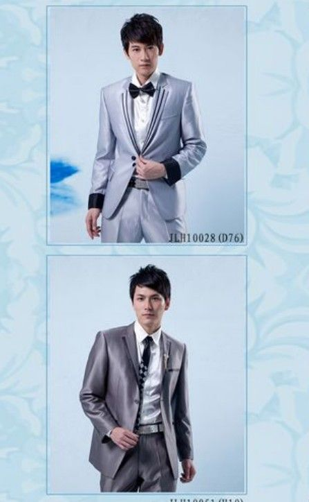 Buy Lapelled Two Buttons Groom Suit Light Blue with cheapest price|Clothing-Dropship.com