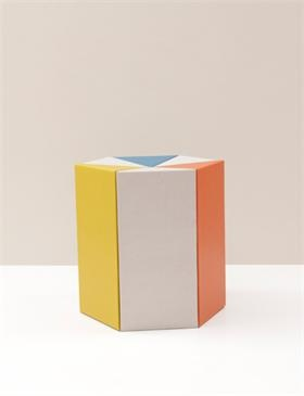 hexagonal cardboard stool
