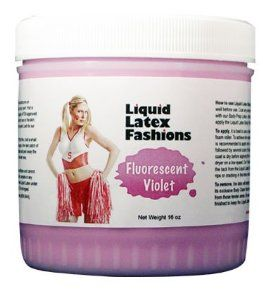 Ammonia Free Liquid Latex Body Paint - 32oz Fluorescent Violet by Liquid Latex Fashions. $24.99. Liquid Latex Body Paint will not rub off onto your clothing or furniture like other body paints. Will not stain the skin. Easy Application & Easy Removal. The only Liquid Latex that is Ammonia Free!. Liquid Latex Fashions manufactures liquid latex body paint in a variety of colors, these body paints are made with the highest quality of FDA approved ingredients. Because our produc...