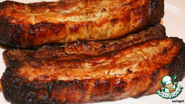 Грилованная свиная грудинка на рeбрышках ингредиенты