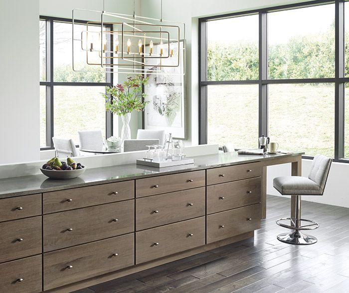 Modern Walnut Kitchen Cabinets