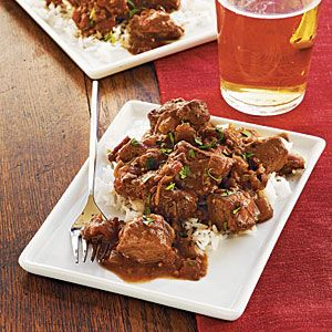 Pork Vindaloo. Seasoned with ginger, garam masala, mustard seeds, and cumin, this fragrant Indian-spiced pork loin braises in a tomato-based sauce. The low-and-slow cooking method renders the pork melt-in-your-mouth tender.