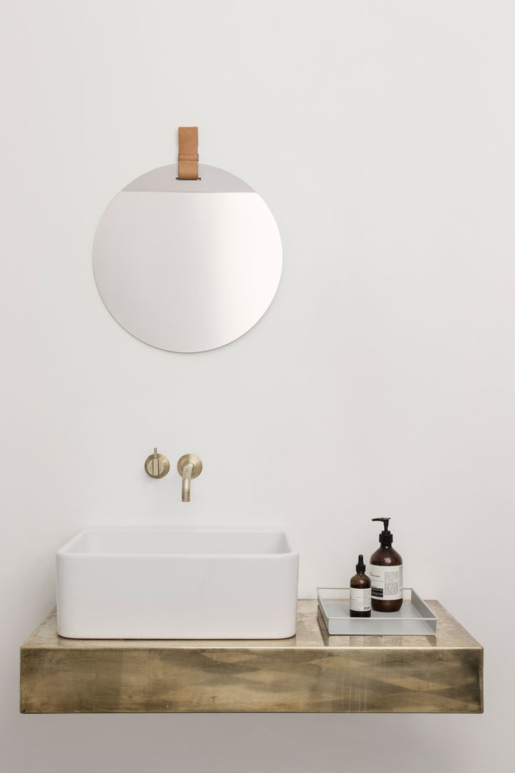 Ferm Livings New Collection Gets It All Right Bathroom SinksFloating SinkRound MirrorBrass