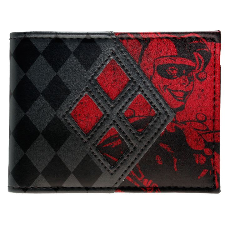 awesome Wallet harley Quinn Logo Colors Canoncal Merch Loot  -