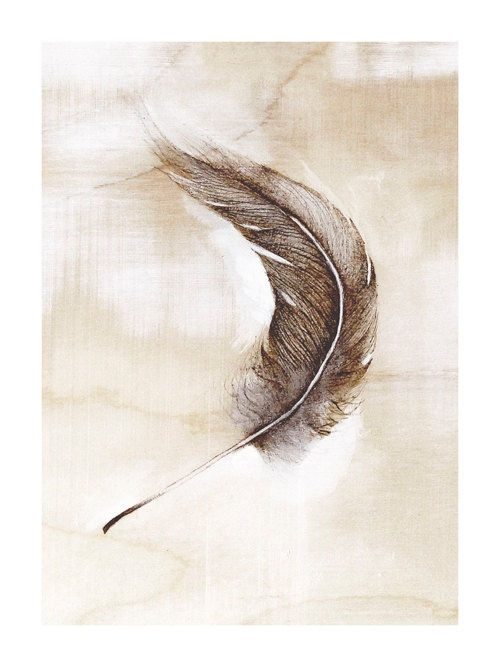 feather art print by TheHauntedHollowTree on Etsy