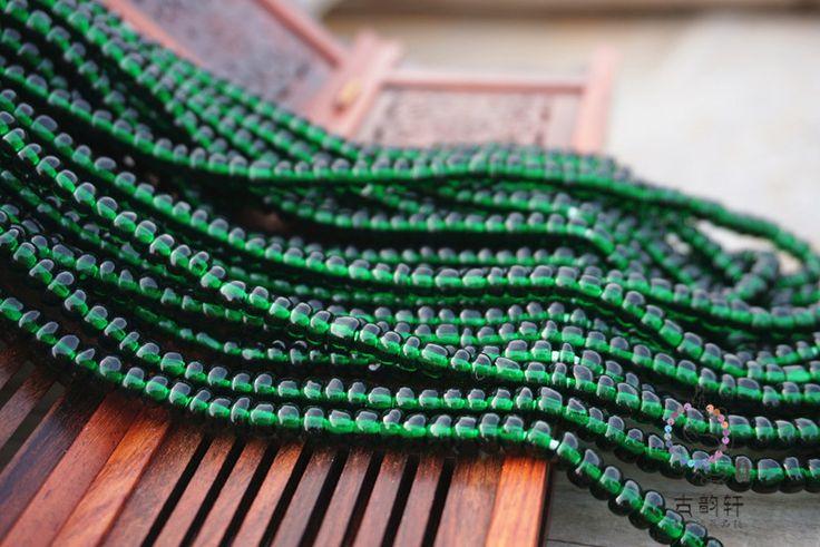 Бошань старые стеклянные бусины DIY ювелирных изделий аксессуары бусины с бусины 5 мм павлин зеленый светло-зеленый рис бусины занавес бусины 3 160 $ туда-Таобао