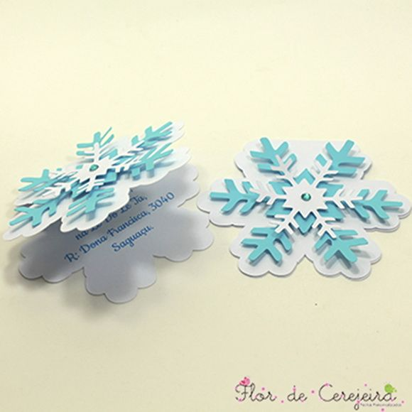 Convite Frozen - Floco de Neve