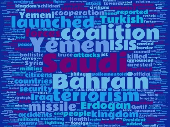 Weekly wordcloud from GCC events
