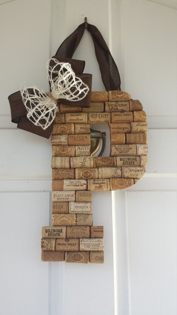 Personalized Wine Cork Letters Custom Wine Cork by ADCMDesign