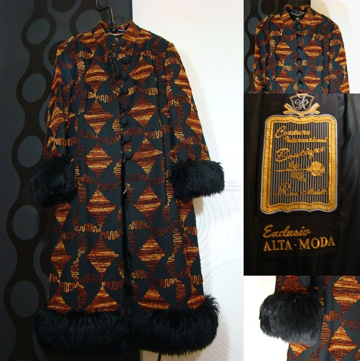 CHIC *** Retro Mantel Couture  ALTA MODA Vintage Boho