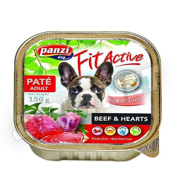 FitActive Marha szív pástétom 150g - nedvestáp kutyáknak
