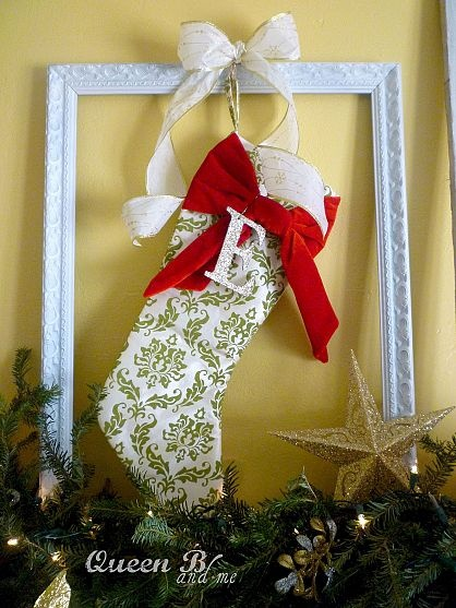 Queen B Christmas: Hang Your Stockings in an old frame