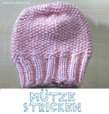 Anleitung: eine warme Mütze stricken - einfach und schnell. Diese Strickanleitung für eine kuschelige Wintermütze ist nicht schwer u. für Anfänger geeignet.