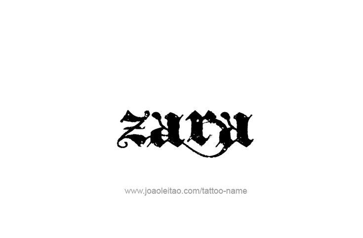 Zara Name Tattoo Designs