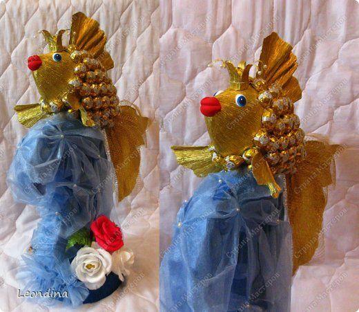 Золотая рыбка из конфет.. Обсуждение на LiveInternet - Российский Сервис Онлайн-Дневников