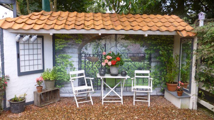 Gave tuinposter terras tuininspiratie deze is mooi in zomer en winter tuinposter geeft - Gespannen terras ...