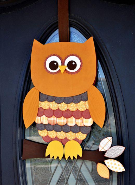 30 Gorgeous Fall Decor Ideas - see burlap pumpkin and burlap boo