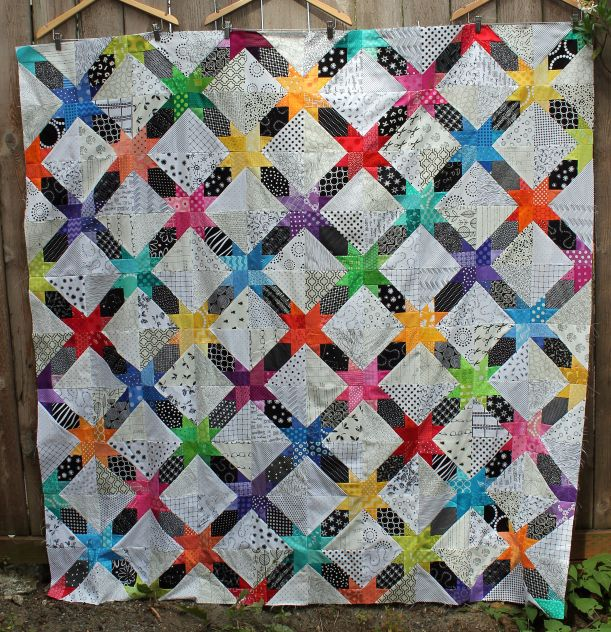 Free Quilt Patterns From Pinterest : free quilt pattern modern star Quilting Pinterest
