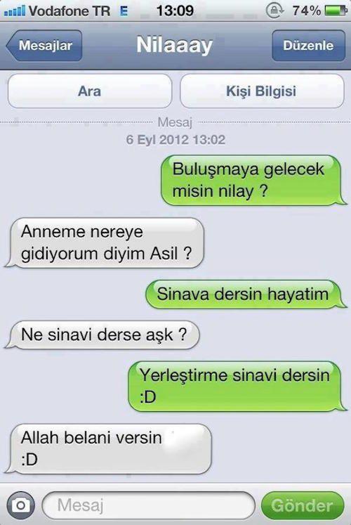Karitatür Burda: Sınavın adında Hayır yok :)