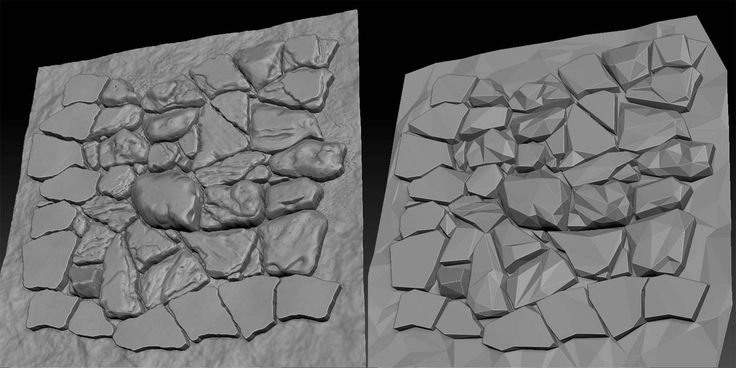 Art Tutorials: How To Create Tiled Textures With Nonuniform Stones Using Zbrush