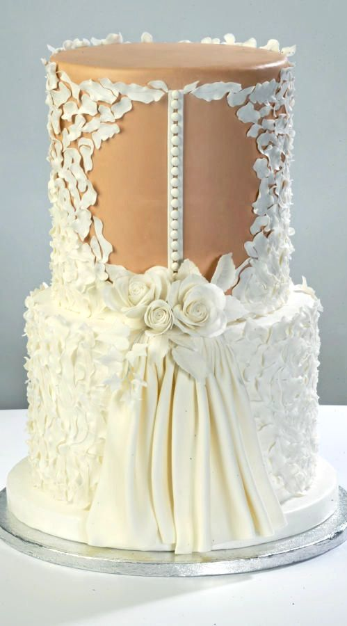 140 best wedding dress cakes images on pinterest petit fours wedding dress cake junglespirit Gallery