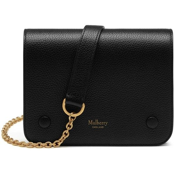 Mulberry Small Clifton (£595) ❤ liked on Polyvore featuring bags, handbags, shoulder bags, purses, black, purse crossbody, chain shoulder bag, hand bags, camo purse and handbags shoulder bags