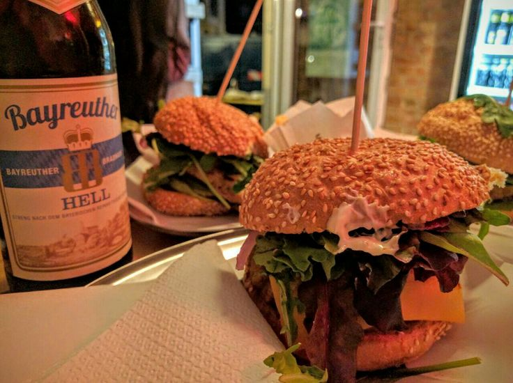 Fresh baked breads and fresh produce makes the Schiller Burger a great meal in Berlin.