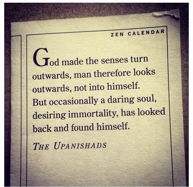 A challenge from the Hindu Upanishads...