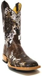 Cinch Woman Rich Chocolate Cowhide Boots
