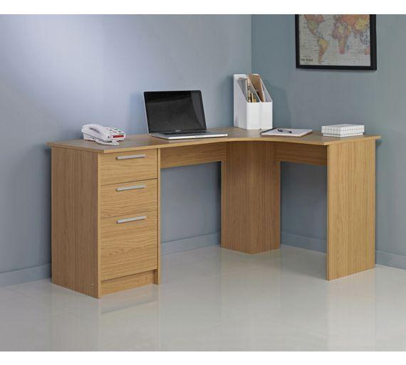 buy large corner desk oak effect at argoscouk your online