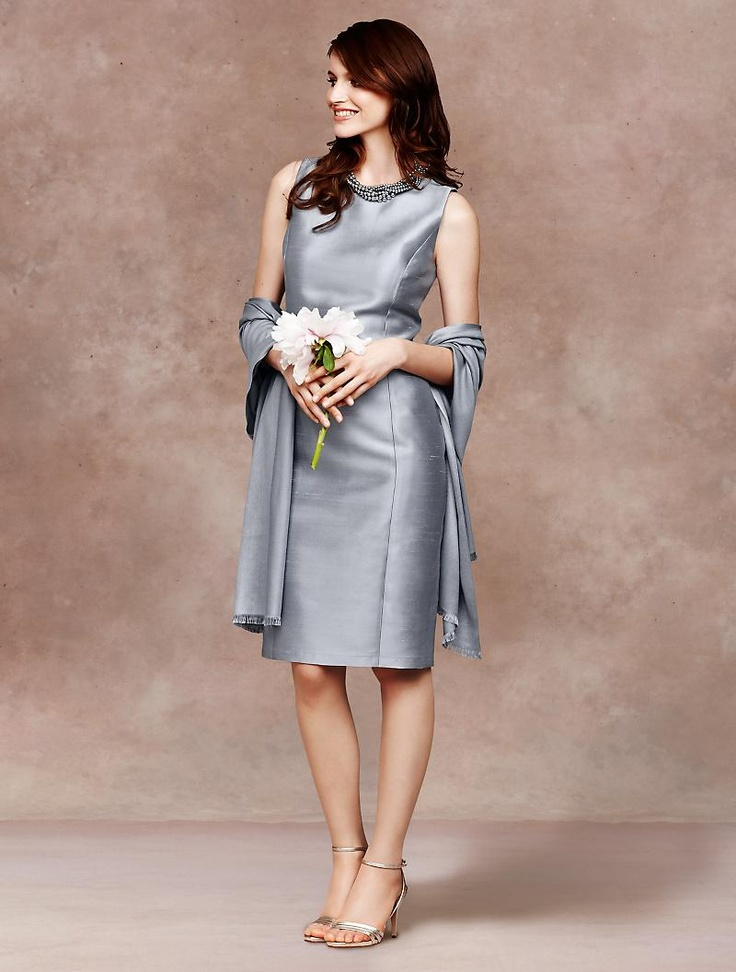 Talbots doupioni sheath dress mother of the groom dress for Talbots dresses for weddings