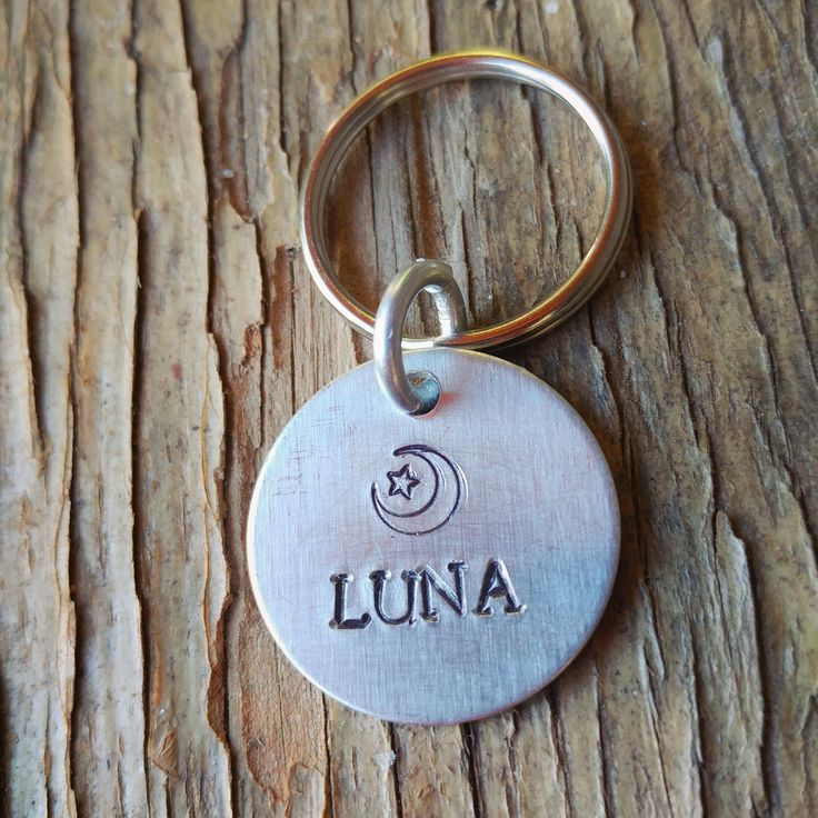 Excited to share the latest addition to my #etsy shop: Dog Id Tags, Dog tag, celestial dog tag, cat tag, pet id tag, hand stamped, dog Christmas gift, moon and star, boho, affordable http://etsy.me/2zlUmhc #pets #dogtag #dogidtag #petidtag #moon #moonandstar #luna