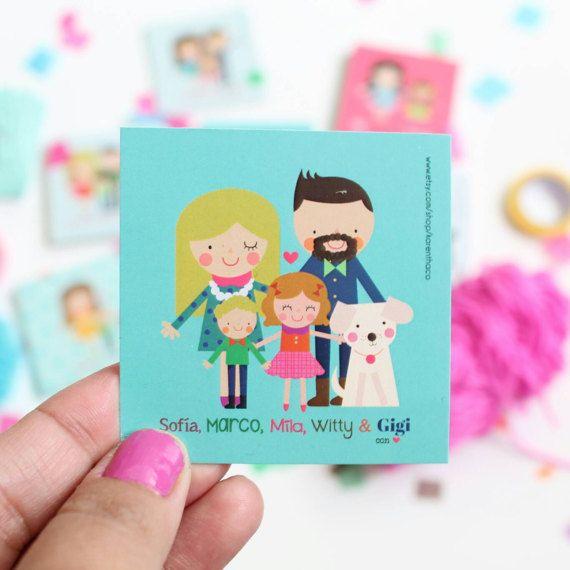 Etiquetas de regalo tarjetas personalizadas o familia
