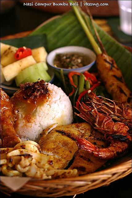 nasi-campur-bumbu-bali by vkeong, via Flickr