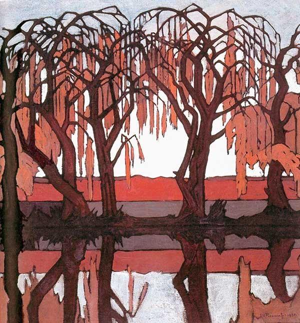 """Pierneef, Jacob Hendrik (1886 - 1957) """"Reflections - Pienaar's River"""""""