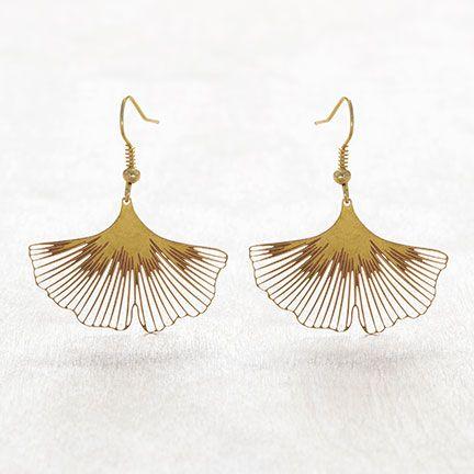 MGE100 Ginkgo Biloba Earrings |♦F&I♦