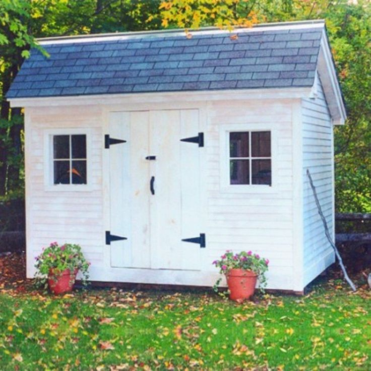 Outdoor Prefab Storage Shed In White Colors : Outdoor Prefab Storage Sheds