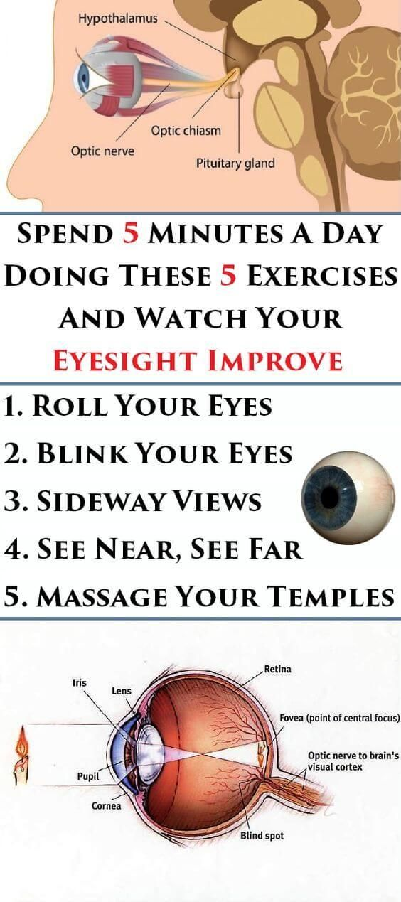 •	Spend 5 Minutes a Day Doing These 5 Exercises and Watch Your Eyesight Improve !!