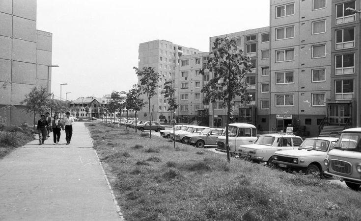 Palotaváros (Lenin lakótelep), Tolnai utca a Sütő utca felé nézve.
