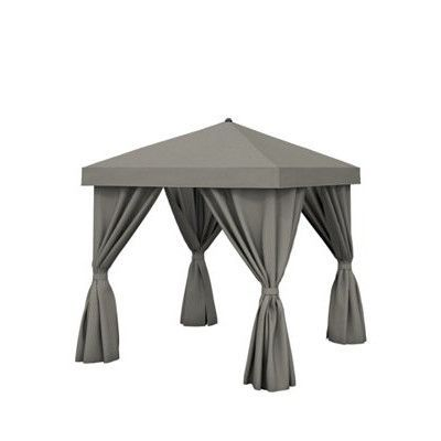 Tropitone Basta 12 Ft. W x 12 Ft. D Aluminum Pop-Up Gazebo Roof Color: East Wood, Frame Finish: Mocha