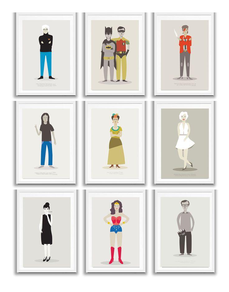 Personajes ilustrados de Judy Kaufmann