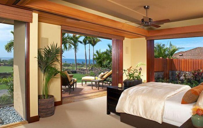тропический стиль спальни - фото