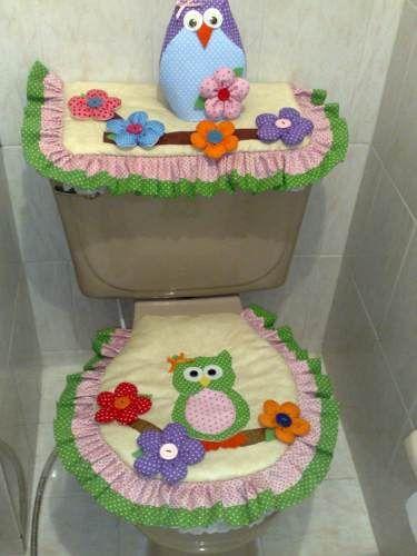 52 best juego de baños images on pinterest | bathroom sets, sewing ... - Juegos De Bano De Fieltro Para Primavera