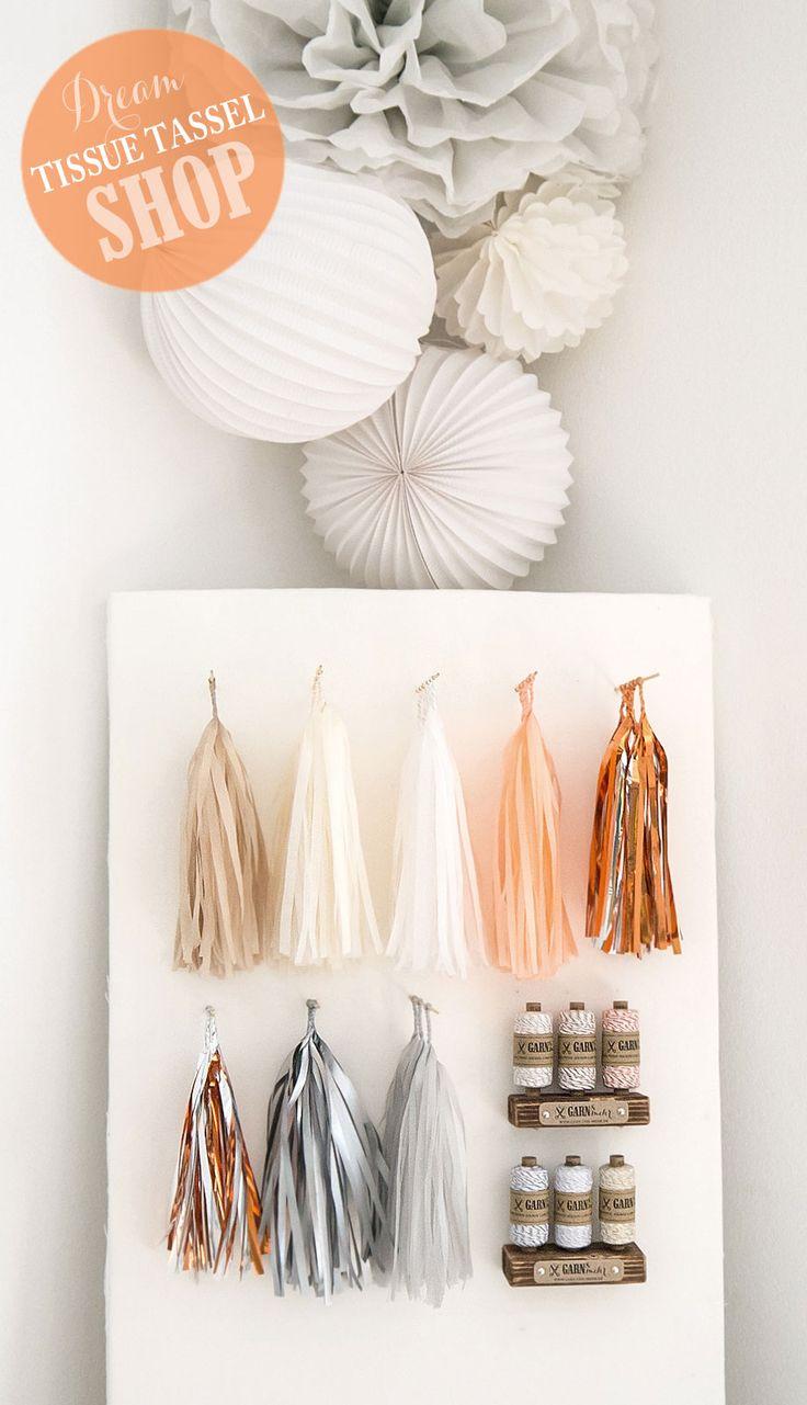 die 25 besten ideen zu papier poms auf pinterest. Black Bedroom Furniture Sets. Home Design Ideas