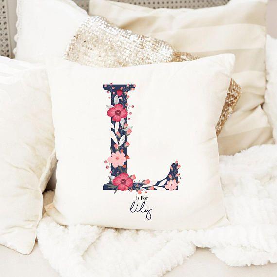 Monogram Pillow Baby Name Pillow Custom Name Pillow Personalized Pillow Monogram Pillow Cover I Personalized Pillows Custom Pillow Covers Monogram Pillows