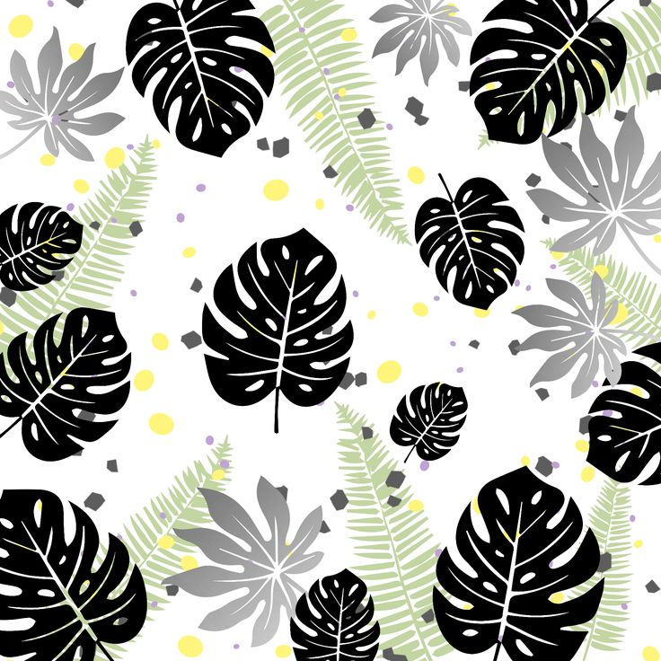 Projektek :: dorettadesign  Summer inspired pattern with tropical leaves